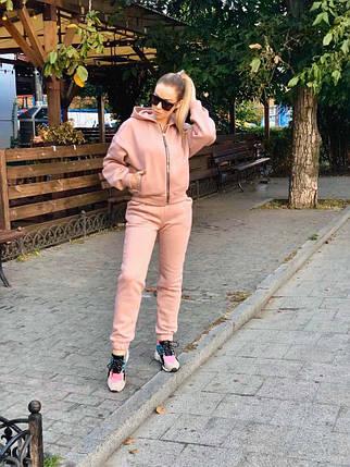 """Теплый спортивный женский костюм """"Стеф"""" с капюшоном, фото 2"""