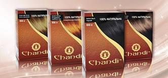 Лечебная аюрведическая краска для волос Chandi. Черный, 100г, фото 2