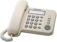 Телефон Panasonic KX-TS2352UAJ (Бежевый) повторный набор последнего номера, 3 кнопки быстрого набора