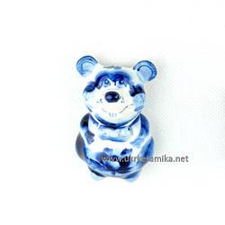 Мышка Магнит большой 7х4,5 см - сувенир гжель украинского производства