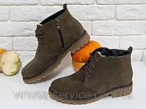 Ботинки женские Gino Figini Б-152-03 из натуральной замши 39 Бежевый, фото 3