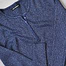 Женская кофта с люрексом на пуговицах синяя, фото 2
