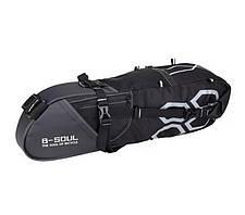Велосипедная большая сумка под седло вело кофр B-Soul 10л, фото 2