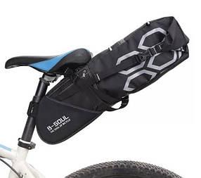 Велосипедная большая сумка под седло вело кофр B-Soul 10л
