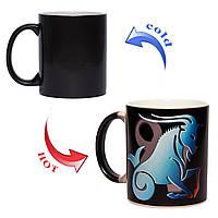 Магическая чашка хамелеон Знак зодиака Козерог 330мл
