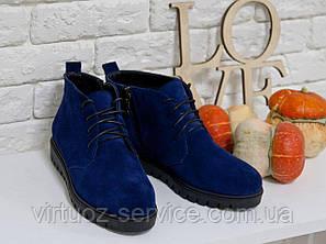 Ботинки женские Gino Figini Б-152-04 из натуральной замши 37 Синий, фото 2