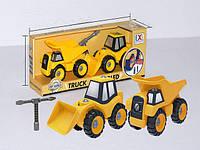 CXL200-28C Игровой набор-конструктор БУЛЬДОЗЕР и САМОСВАЛ  CAN XIN LONG