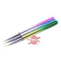 Набор кистей для рисования 3шт (цветные)
