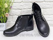 Ботинки женские Gino Figini Б-152-05 из натуральной кожи 37 Черный, фото 2
