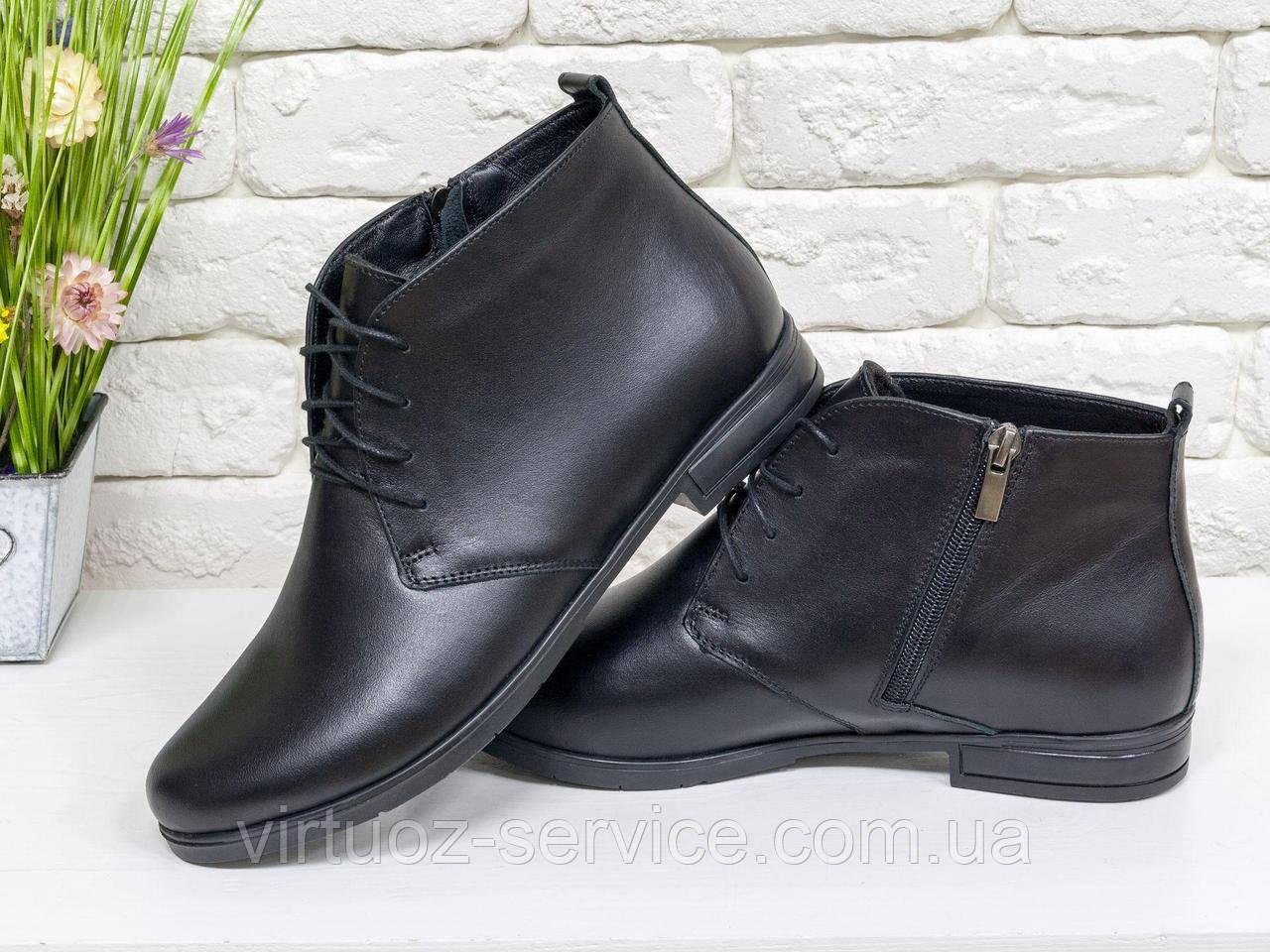 Ботинки женские Gino Figini Б-152-05 из натуральной кожи 37 Черный