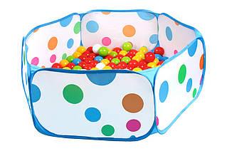 Набор шариков для сухих бассейнов и бассейн, (80 шт.) «ТехноК» (5552)