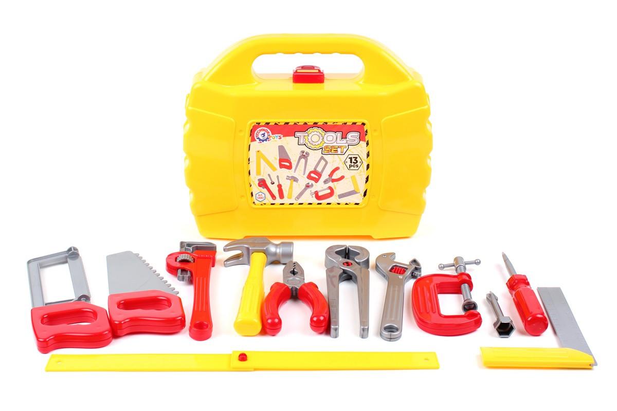 Набор инструментов в чемодане желтый «ТехноК» (5880)