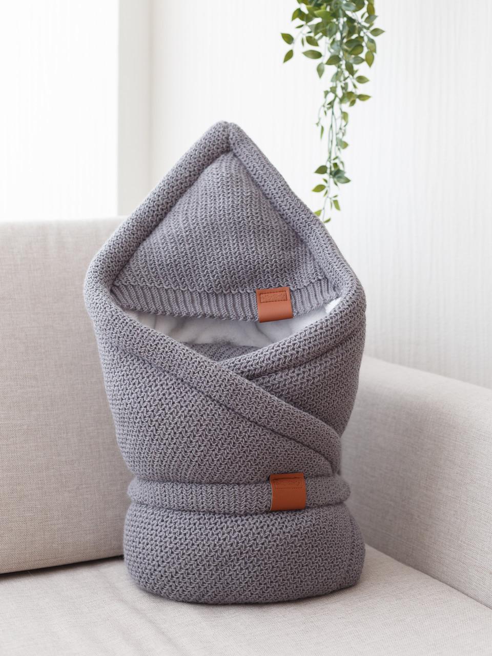 """Конверт-одеяло на выписку на махре """"Familia"""", серый"""