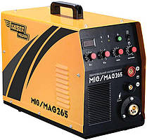 Зварювальний інверторний напівавтомат 2в1, 265 А, Kaiser MIG-265 (69565)