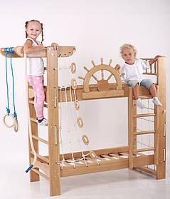 Детская кровать со спортивным уголком