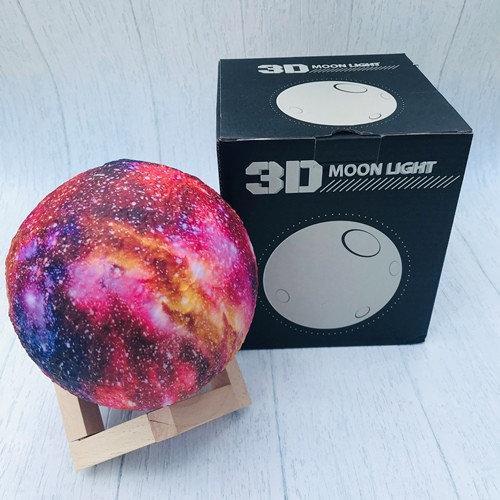 Ночник в виде Луны 3D Moon Light аккумуляторный + пульт 16 режимов