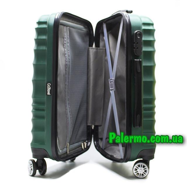 пластиковый дорожный чемодан Green