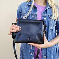 """Жіноча шкіряна сумка """"Изиури Black"""", фото 1"""