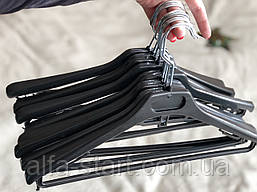 Чёрная вешалка плечики Италия 40см б/у с перекладинойИлья одежды