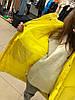 Пуховик лаковый с поясом длинный MB Namec желтый S ПУХ014, фото 3
