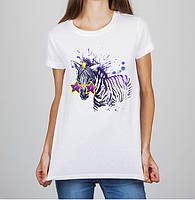 Женская футболка Push IT с принтом Зебра
