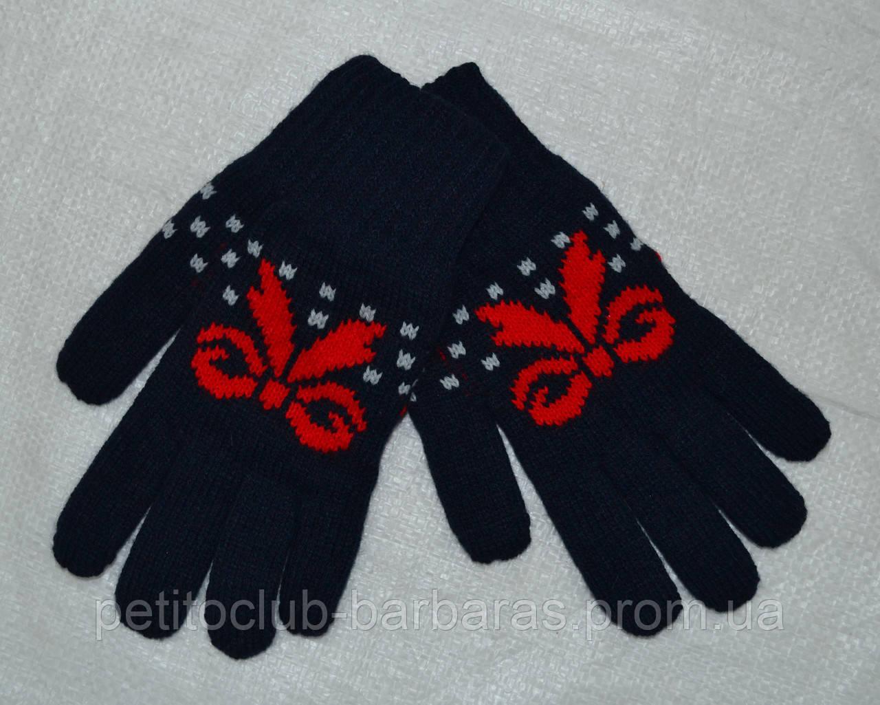 Рукавички з флісовою підкладкою для дівчинки Vanessa темно-сині (MargotBis, Польща)