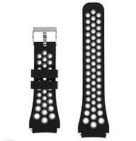 Спортивный ремешок с перфорацией Primo для часов Xiaomi Amazfit GTR 47 mm - Black&Grey, фото 1