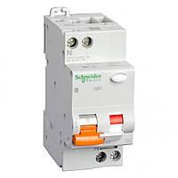 Дифференциальный автоматический выключатель Schneider  АД63 2п 25A  тип С 30мА 2 полюсный