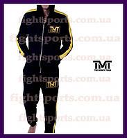 """Мужской Спортивный костюм THE MONEY TEAM GOLD Warrior """"В стиле"""" черный , желтый"""