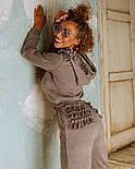 Женский теплый комбинезон из ангоры с рюшами и капюшоном (в расцветках), фото 4