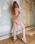 Женский теплый комбинезон из ангоры с рюшами и капюшоном (в расцветках), фото 5