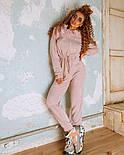 Женский теплый комбинезон из ангоры с рюшами и капюшоном (в расцветках), фото 7