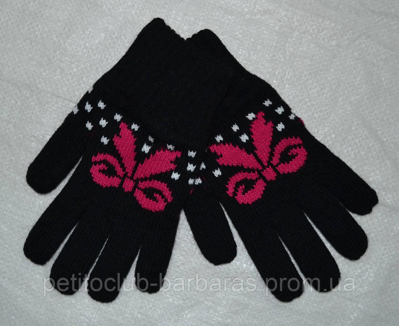 Рукавички з флісовою підкладкою для дівчинки Vanessa чорні (MargotBis, Польща)