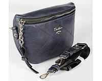 Женская сумка на пояс бананка David Jones (337) синяя