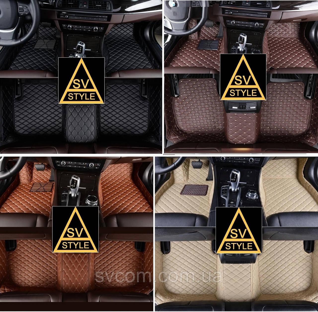 Коврики BMW X6 F16 Кожаные 3D (2014-2019) с текстильными накидками