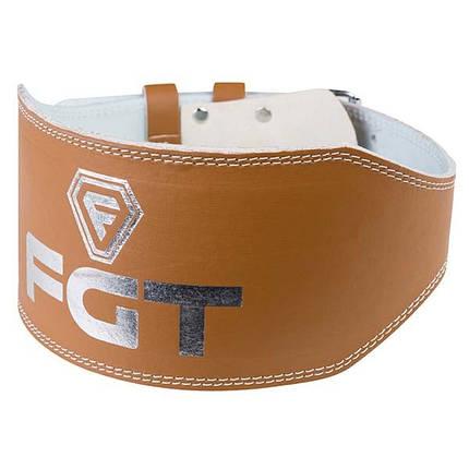 Пояс атлетический FGT широкий, PU, размер М, коричневый, F16025, фото 2