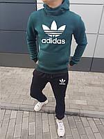 Молодежный мужской зимний спортивный костюм Адидас штаны+толстовка (реплика)