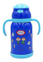 Термос детский Con Brio CB383, 380 мл металлический, синий