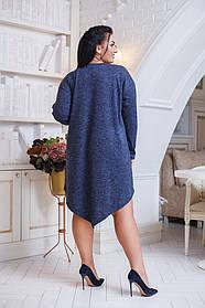ДК0509 Платье ассиметрия ангора (размеры 50-56)
