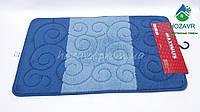 Набор ковриков для ванной и туалета 50*80 см Турция сине-голубой