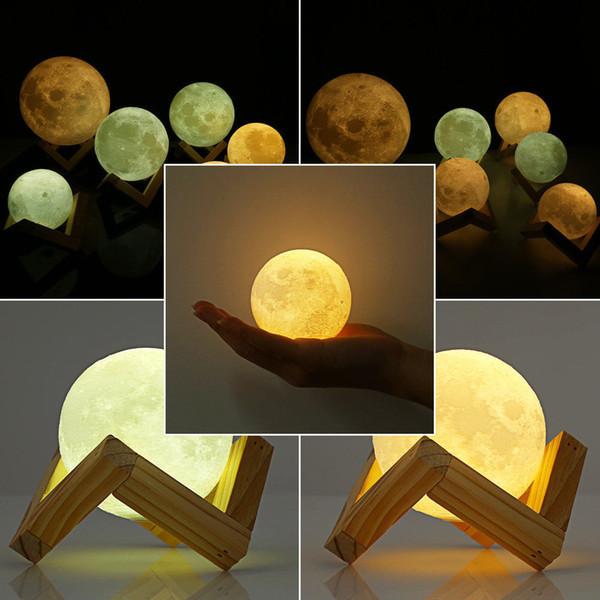 Ночник в виде Луны 3D Moon Light аккумуляторный