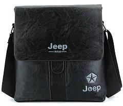 Мужская сумка Jeep Buluo черная, фото 2