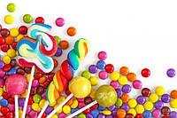 Детские сладости (желейки, мармеладки, жвачки, драже, яйца, леденцы на палочке, сладкие браслеты)
