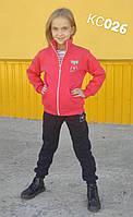 Теплый спортивный костюм на девочку Love (5-8 лет)
