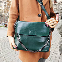 """Женская кожаная сумка """"Синди 3 Green"""", фото 1"""