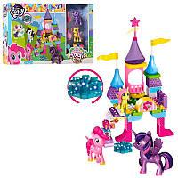 Игровой набор - Конструктор Замок Домик Литл Пони (my Litlle Pony) свет, 61 деталь, фигурки пони, 5721 (8721), фото 1