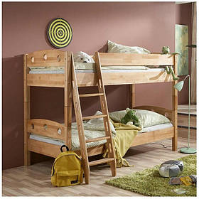 Двухэтажная кровать трансформер из дерева бук