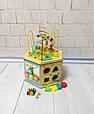 Развивающая деревянная игрушка (бизиборд, пальчиковый лабиринт) арт. 31353, фото 4