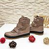 Ботинки детские на липучках, цвет визон, фото 4