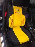 Чехлы автомобильные универсальные, комплект на все сидения / желтый